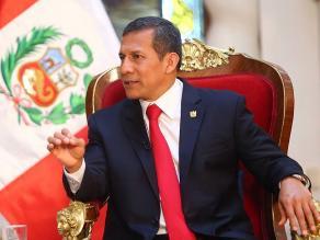 EXCLUSIVO: Presidente Humala afirma que sí lidera lucha contra inseguridad ciudadana