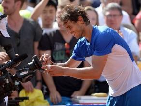 ATP 500 de Hamburgo: Rafael Nadal sufre calambres en pleno discurso