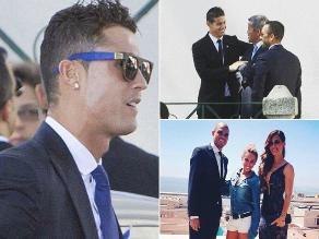 Así lucieron Cristiano, James Rodríguez y Pepe en la boda de Jorge Mendes