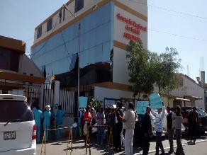 Trabajadores realizaron protesta en la gerencia de Salud