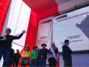 Toda la región Huancavelica contará con internet de alta velocidad