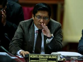 Vicente Zeballos pide poner en agenda informes de