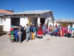 Huancavelica: familias afectadas por heladas reciben ayuda