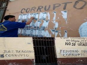 Chiclayo: realizan pintas en contra titular del Tercer Juzgado Civil
