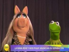 La rana René y Miss Piggy ponen fin a su relación