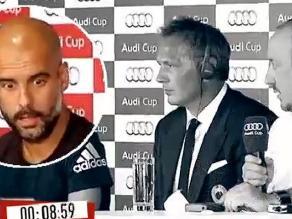 La cara de Guardiola en la rueda de prensa de Benítez da la vuelta al mundo