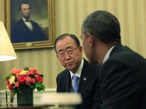 Cambio climático marcó la agenda de la cita entre Obama y Ban Ki-moon