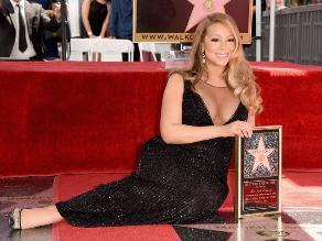 Mariah Carey recibió su estrella en el Paseo de la Fama