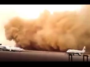 Facebook: Increíble tormenta de arena 'devoró' aeropuerto en Jordania