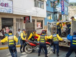 Apurímac: decomisan más de 15 motocicletas por estar en zona rígida