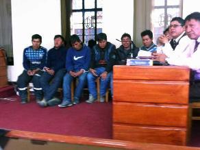 Puno: sentencian a siete mineros ilegales detenidos en interdicción