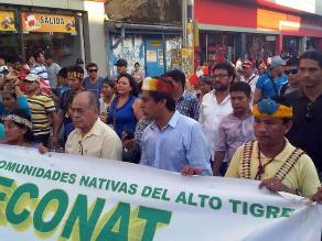Iquitos: indígenas inician movilización contra recorte de canon