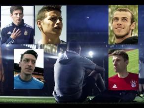 Messi, James Rodríguez, Bale, Müller y Özil juntos en spot motivacional