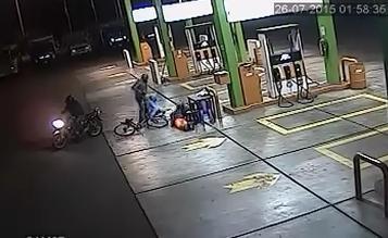 Áncash: encapuchados asaltan grifo en la provincia del Santa y fugan en moto