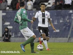 Christofer Gonzales jugó en la goleada del Colo Colo sobre el Audax Italiano