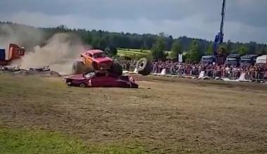 Monster Truck dejó 9 personas heridas en Finlandia