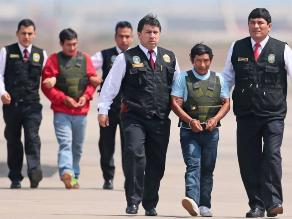 Llegan a Lima los presuntos cabecillas senderistas