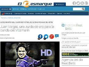 Juan Vargas: Prensa española llama la 'zurda de oro' al 'Loco'