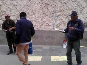 Ayacucho: militante de Movadef recolectan firmas para nuevo partido político