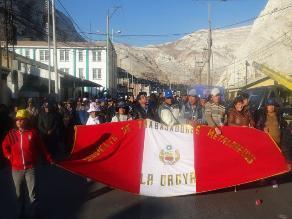 Alcalde de la Oroya y dirigentes viajarán a Lima para reunión con la PCM