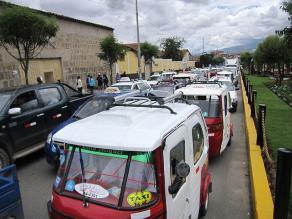 Cajamarca: mototaxistas aseguran que su salida del centro será difícil