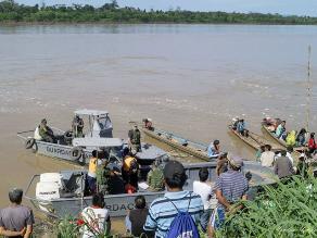Tres personas desaparecieron tras naufragio de bote en río Huallaga