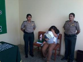 Chiclayo: capturan a mujer embarazada que vendía droga