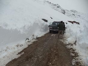 Cusco: recomiendas evitar viajes interprovinciales de noche por nevadas