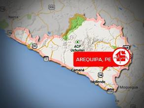 Arequipa: sismo de regular intensidad se registró en Chivay