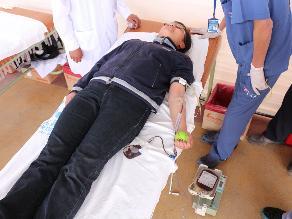 Chiclayo: se realiza campaña de donación de sangre en universidad