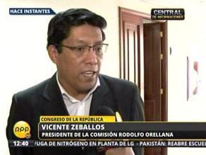 Comisión parlamentaria invitará a Reátegui por reunión con Orellana