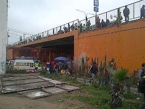Llegan policías a Puente Nuevo tras denuncia de RPP Noticias
