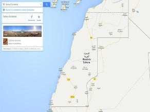 Piden a Google que corrija mapa donde está Sáhara Occidental