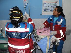 La Oroya: bebé prematura llegó en ambulancia hasta hospital El Carmen