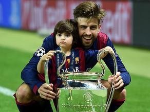 Hijo de Gerard Piqué y Shakira levanta su primer trofeo de fútbol
