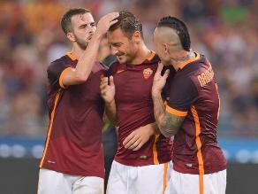 Amistoso internacional: AS Roma venció por 6 a 4 al Sevilla