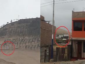 WhatsApp: camiones arrojan desmonte en terrenos de cementerio en Chorrillos