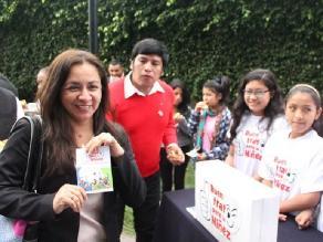Marisol Espinoza apoyó campaña en favor de derechos de los niños