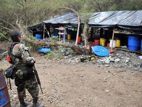 Vraem: PNP destruye laboratorios de elaboración de drogas
