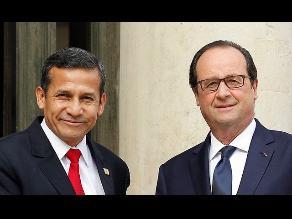 Ollanta Humala se reunirá con François Hollande en setiembre próximo