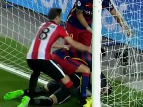 Barcelona vs. Athletic Bilbao: Arquero amarra pelota tras gol de Messi