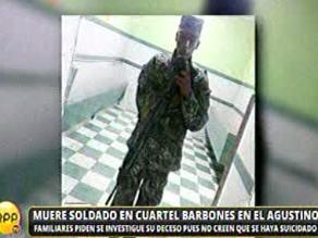 El Agustino: Soldado de 20 años es hallado muerto en cuartel