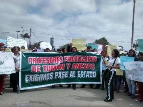 Profesores de Tumán claman atención del Minedu para reanudar clases