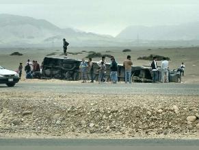 La Libertad: despiste y vuelco de bus deja al menos cinco personas heridas