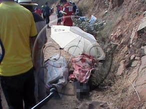 Ayacucho: identifican a los siete fallecidos en despiste de camioneta