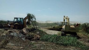 Áncash: municipalidades inician labores de descolmatación en río Lacramarca