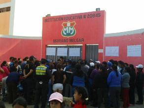 Huaral: alumnos de colegio consumían agua no apta para consumo humano