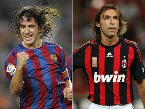 Carles Puyol - Andrea Pirlo: Leyendas del fútbol que no han cambiado de look