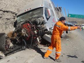 Conductor falleció tras despiste de tráiler en La Oroya