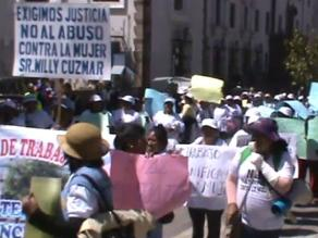 Cusco: gran número de mujeres participaron en marcha contra la violencia